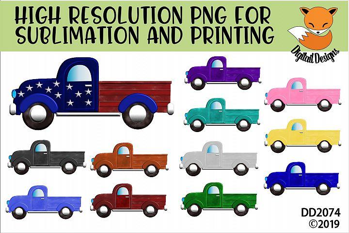 Vintage Truck Elements PNG for Sublimation