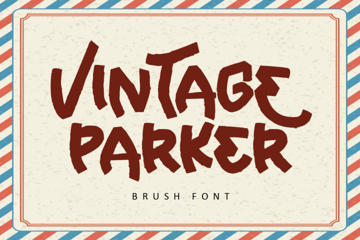 Vintage Parker - Brush Font