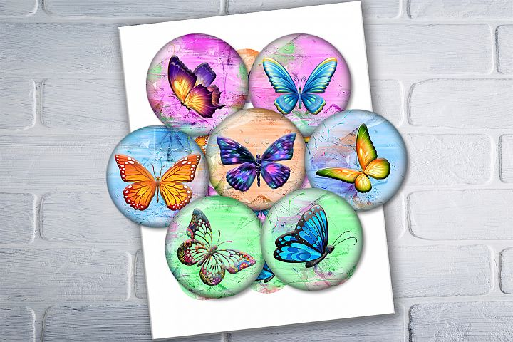 Colorful Butterflies, Printable Images,BLACK FRIDAY 50OFF