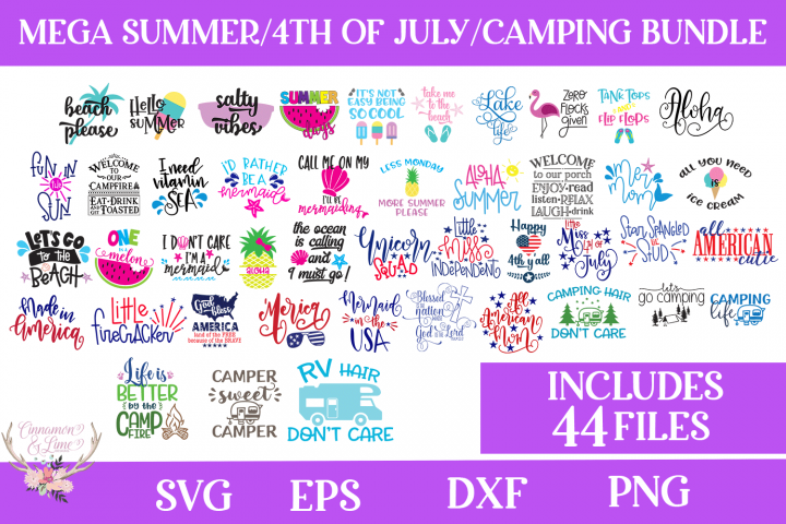 Summer, 4th of July, Camping Bundle - Includes 44 Files