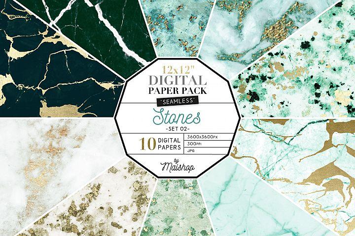 Seamless Digital Paper Pack - Stones Set 02