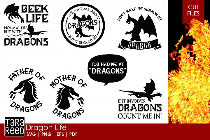 Dragon Life - Dragon SVG and Cut Files for Crafters