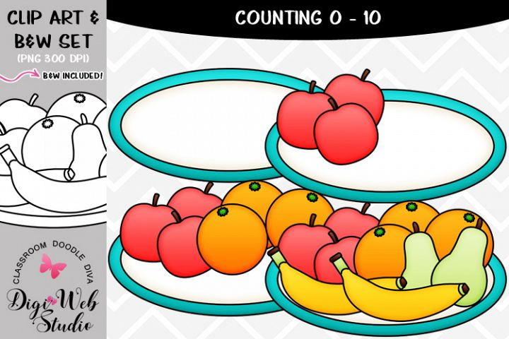 Clip Art / Illustrations - 0-10 Counting Fruit