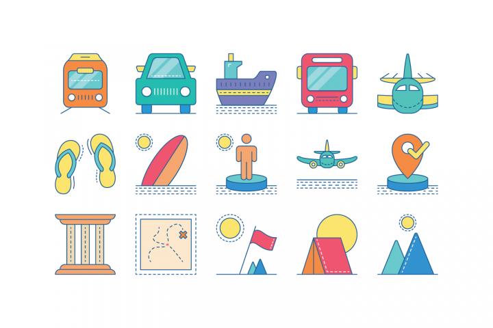 Travel Color Icon I