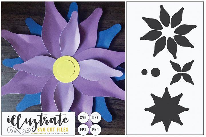 Paper Cut Flower, 3D Flower SVG Cut, Paper Flower Design