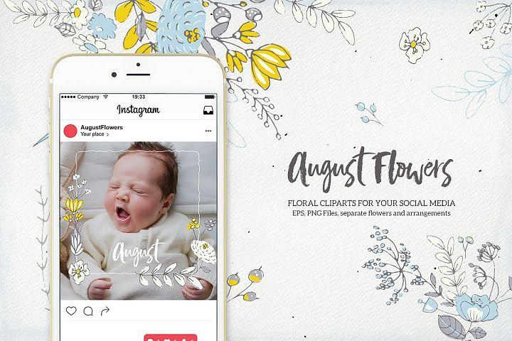 August Flowers for Instagram