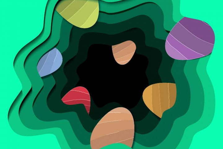 Easter colored eggs - Paper cut out