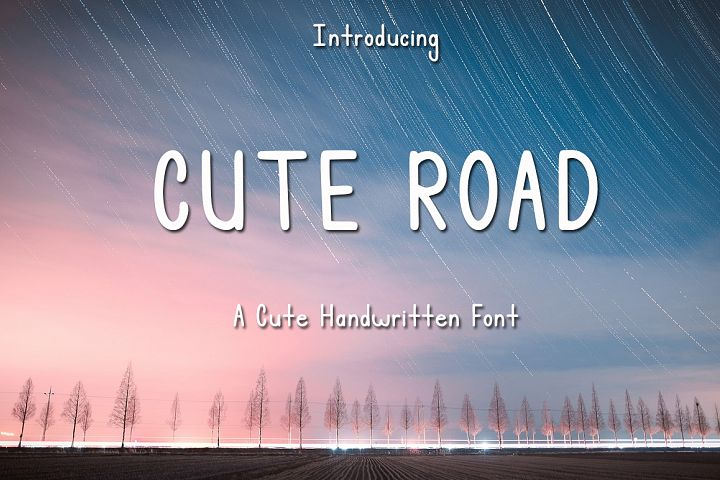 Cute Road - Handwritten Font