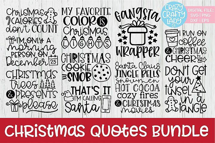 Christmas Quotes SVG DXF EPS PNG Cut File Bundle