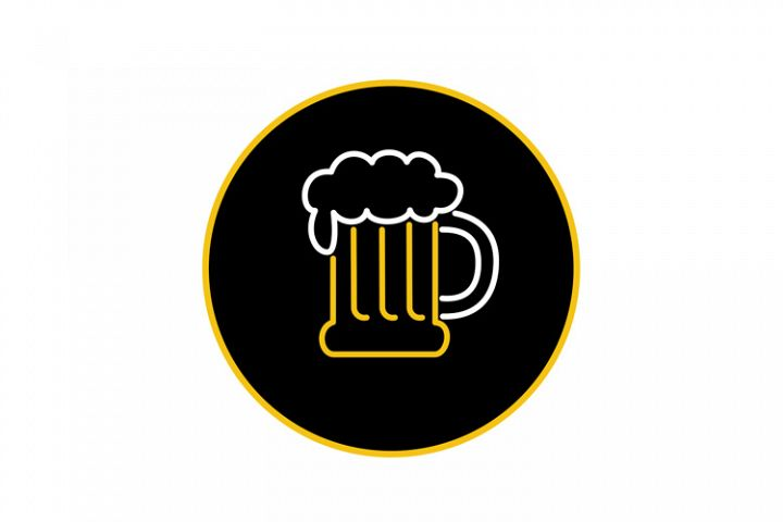 Beer Mug Foam Neon Sign Icon