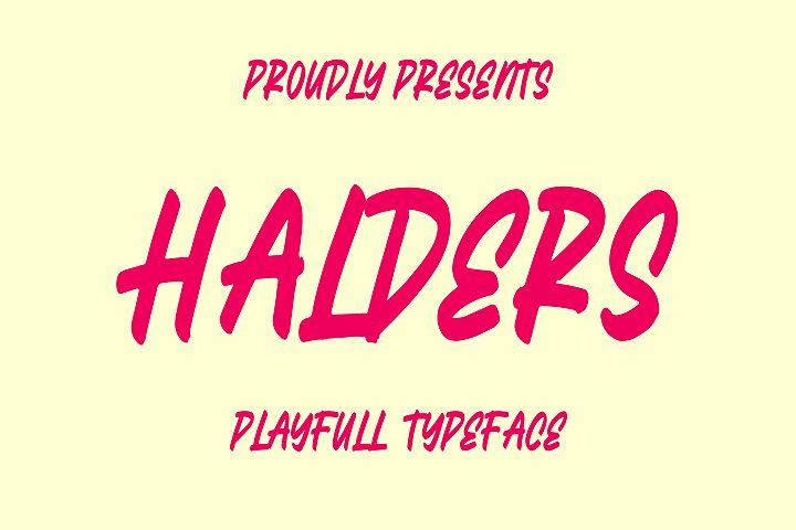 Halders - Playfull Typeface