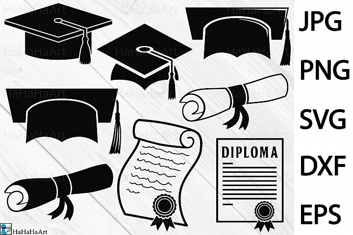 Graduation - Clip art / Cutting Files 217c