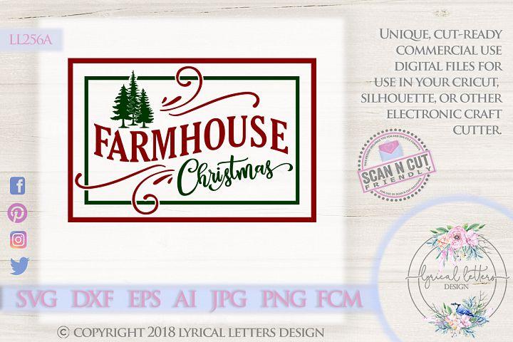 NEW! Farmhouse Christmas SVG DXF LL256A