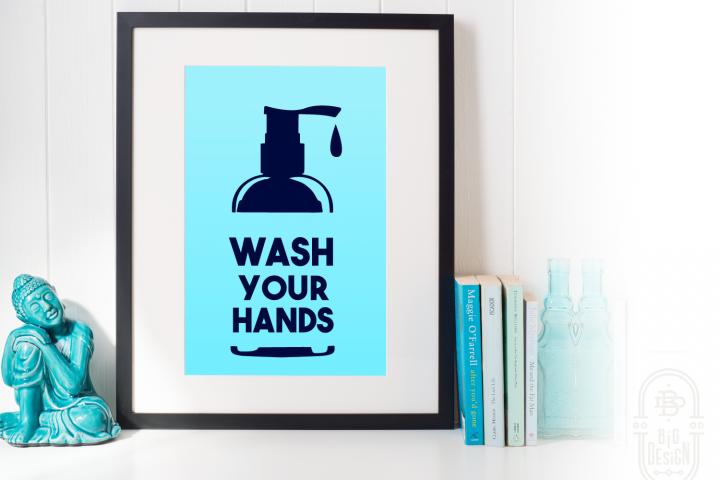 Wash your Hands SVG - Positive Message for Quarantine