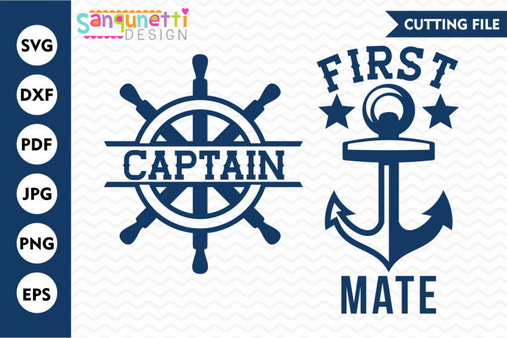 Captain and First Mate matching SVG