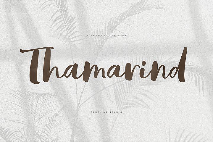 Thamarind Handwritten Font