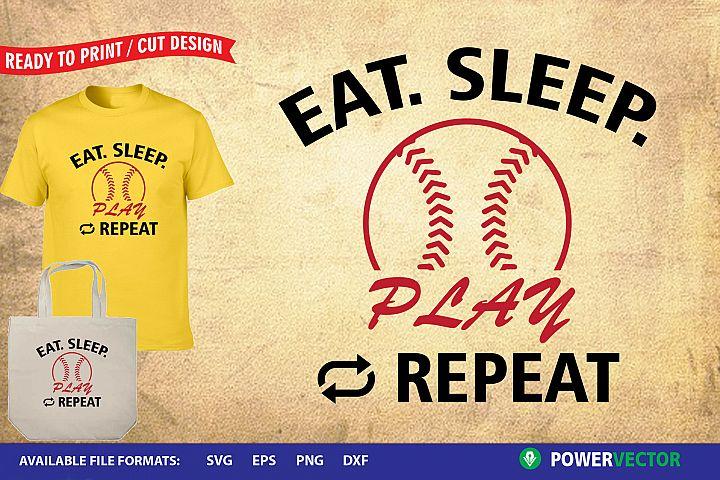 Eat Sleep Play  Sports Cutting files
