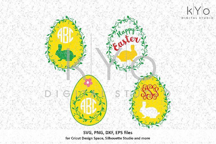 Easter Egg Wreath bundle SVG DXF PNG EPS files