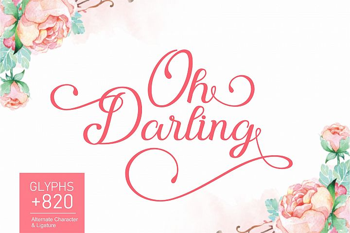 Oh Darling | Lovely Calligraphy Font
