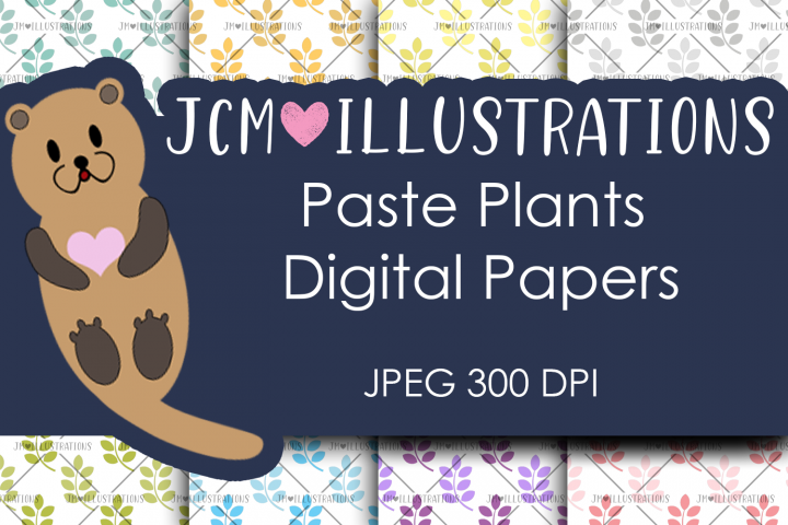 Paste Plants - Digital Papers - Digital Scrapbook Papers