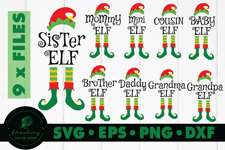 Elf Family SVG Bundle DXF EPS PNG Mommy elf, Daddy elf