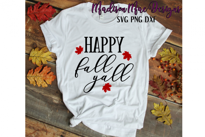Happy Fall Yall SVG | Digital Cut File