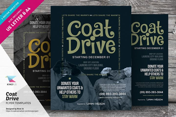 Coat Drive Flyer Templates