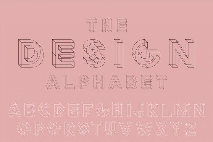 English geometric alphabet