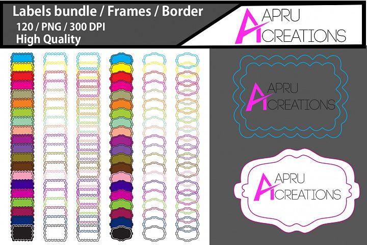 colorful tags / 120 blank labels bundles