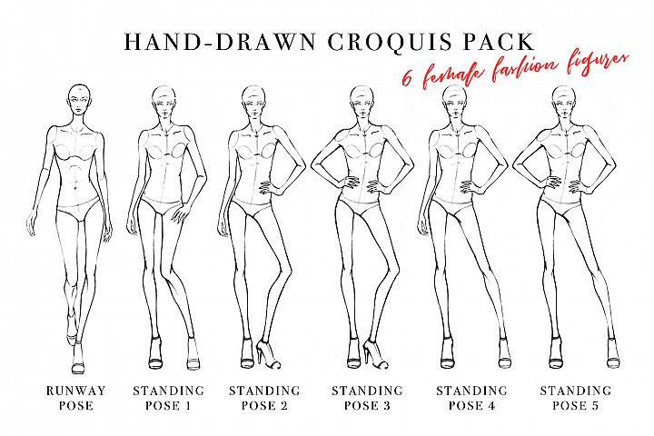 Female Figure Croquis Pack for Fashion Illustration