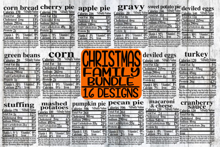 Christmas Family Bundle - Labels - 16 Designs - SVG only