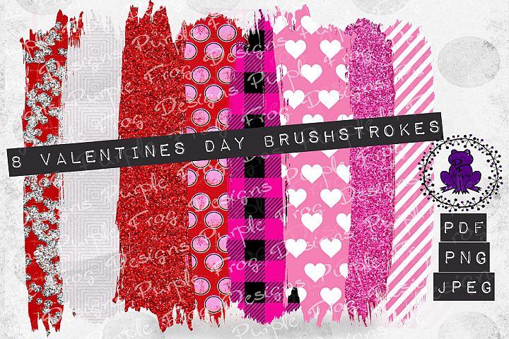 Brushstroke Bundle Valentines hearts glitter