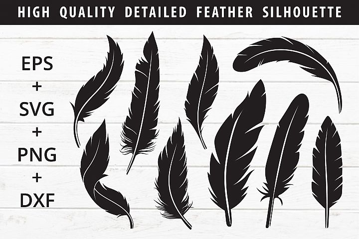 feather silhouette SVG crafter