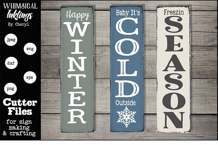 Winter Verticals-SVG Set