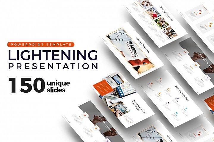 Lightening of Business Presentation Template