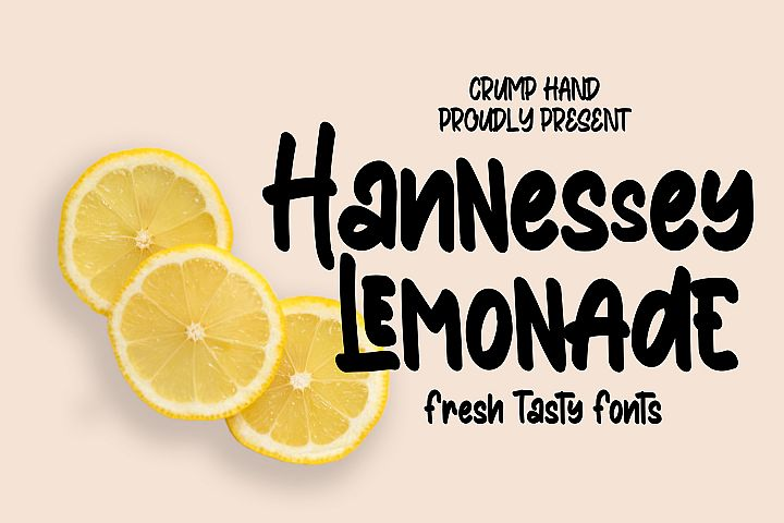 Hannessy Lemonade |Fresh Tasty Fonts!