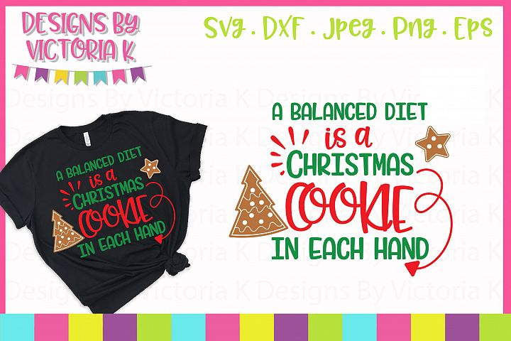 Christmas Cookie, Christmas, SVG, DXF, PNG example