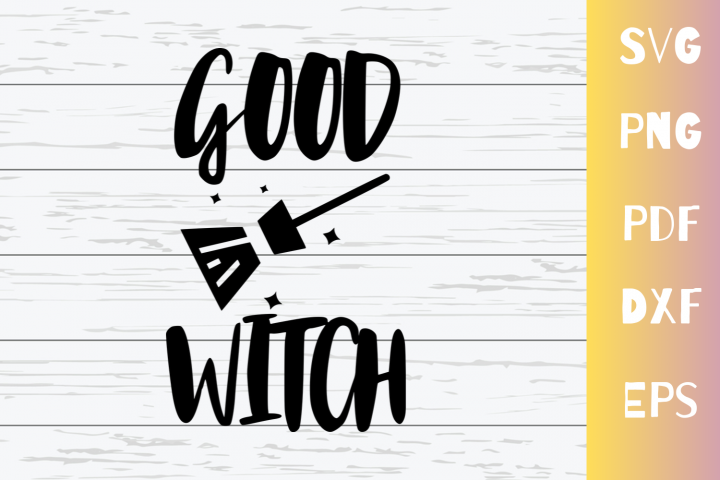 Good Witch SVG Cut File For Cricut|Png|Pdf|Dxf|Eps