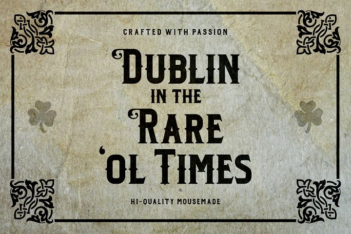 Dublin - Free Font of The Week Design2