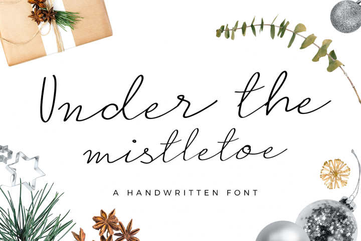 Under the Mistletoe - Handwritten Script Font