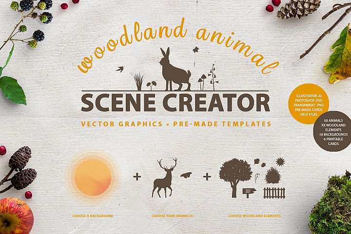 Woodland Animal Scene Creator