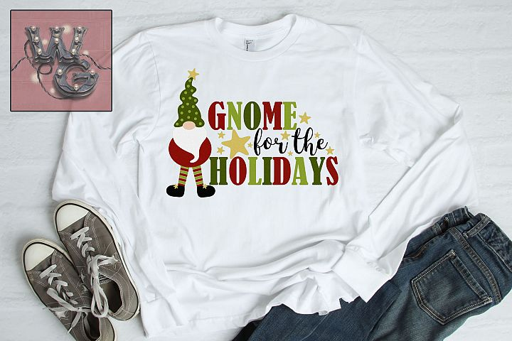 Gnome For the Holidays SVG DFX PNG EPS Comm