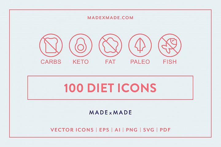 Line Icons - Diet