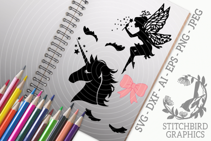 Fairy Princess Bundle SVG, Silhouette Studio, Cricut, Eps