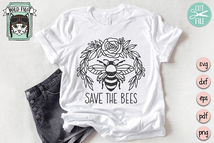Save the Bees svg, Bee svg file, Bee Happy svg file