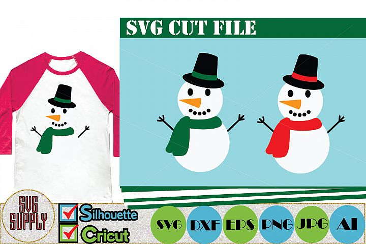 Snowman SVG Cut File Set