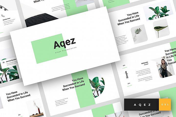 Aqez - Clean Google Slides Template