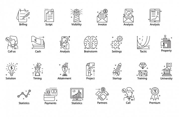 78 PERFECT LINE ICONS example 5