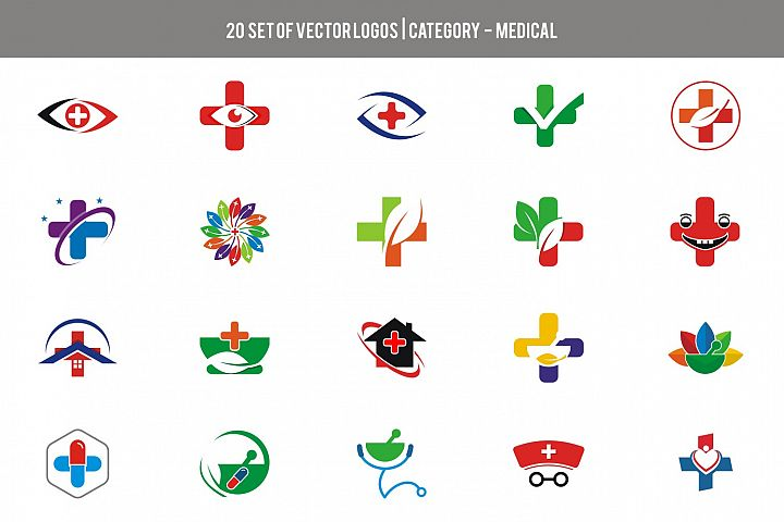 20 Set Stock Vector - Category Medical