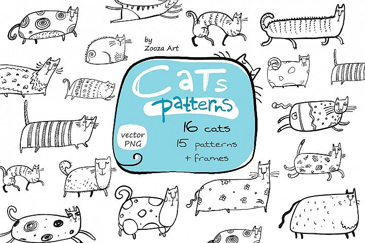 Cats patterns and frames